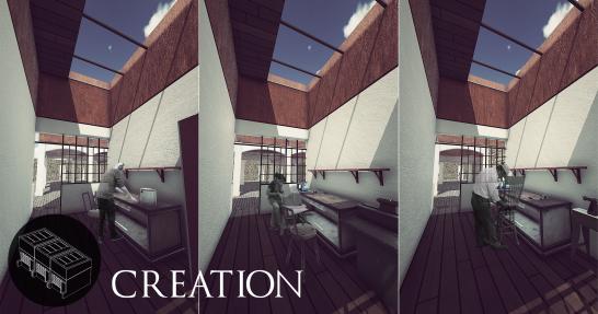 Creation spaces - Evolution