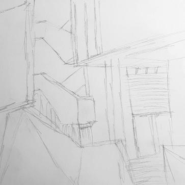 Site Reference Sketch - Unfolding