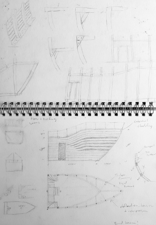 Sketch Iterations - Whale Pavilion