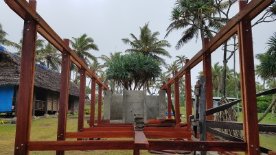 Finished timber structure