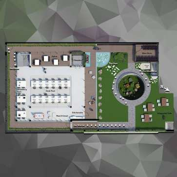 3D plan (ground floor) - Immersion A