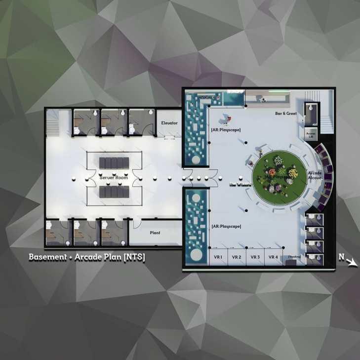 3D plan (basement & arcade) - Immersion A