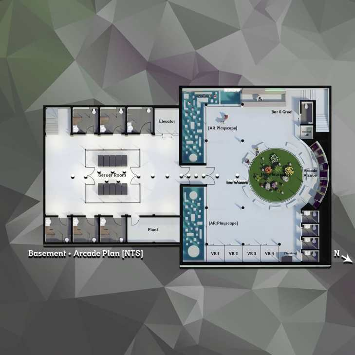 3D plan (basement & arcade) - Immersion A